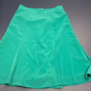 Aqua Turquoise Pleated A-line Skirt